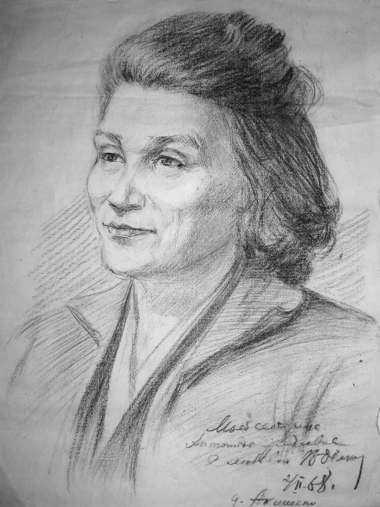 Vasily Fadeevich Demin. Portrait of sister Antonina
