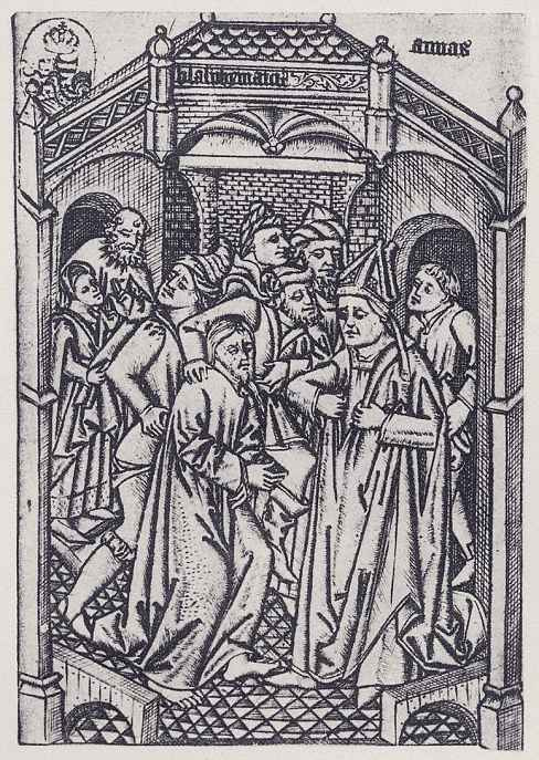 Израэль ван Мекенем Старший. Христос перед Пилатом