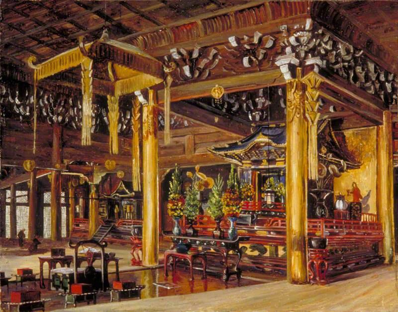 Marianna North. Interior of Chion Temple, Kyoto, Japan