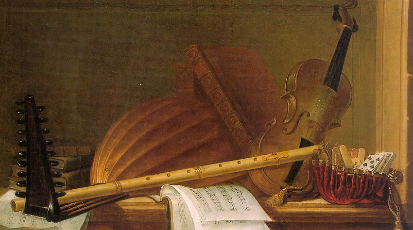 Пьер Николя Хуиллиот. Скрипка и ноты