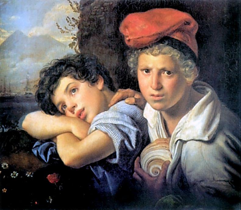 Орест Адамович Кипренский. Неаполитанские мальчики-рыбаки