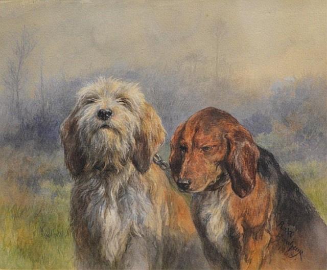 Роза Бонёр. Две собаки