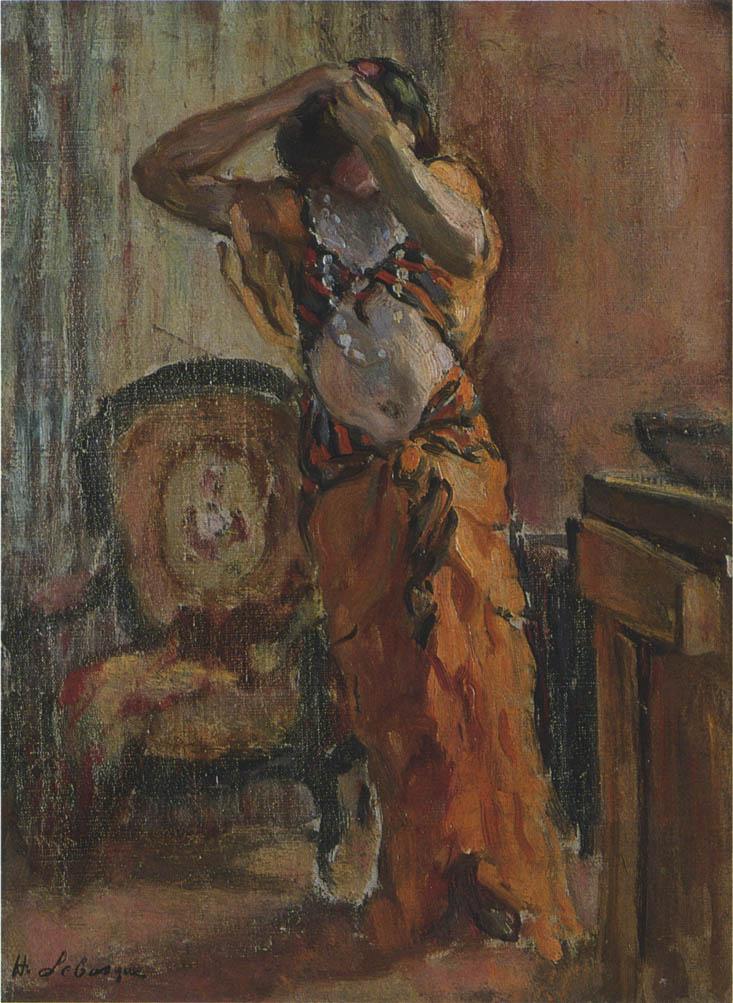 Анри Лебаск. Женщина в гардеробной