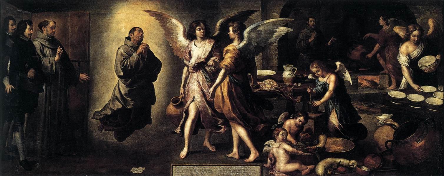Бартоломе Эстебан Мурильо. Кухня ангелов