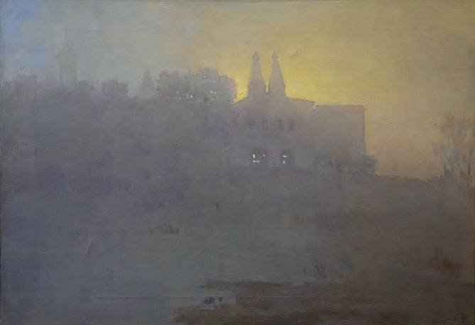Boris Petrovich Zakharov. Morning in Ferapontovo.