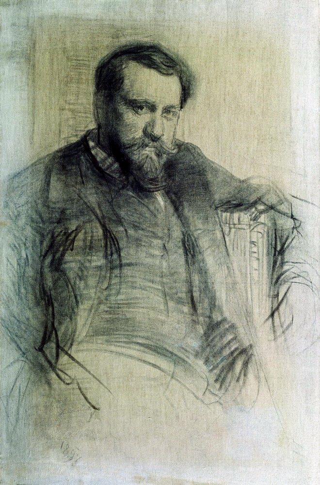 Илья Ефимович Репин. Портрет художника В. А. Серова