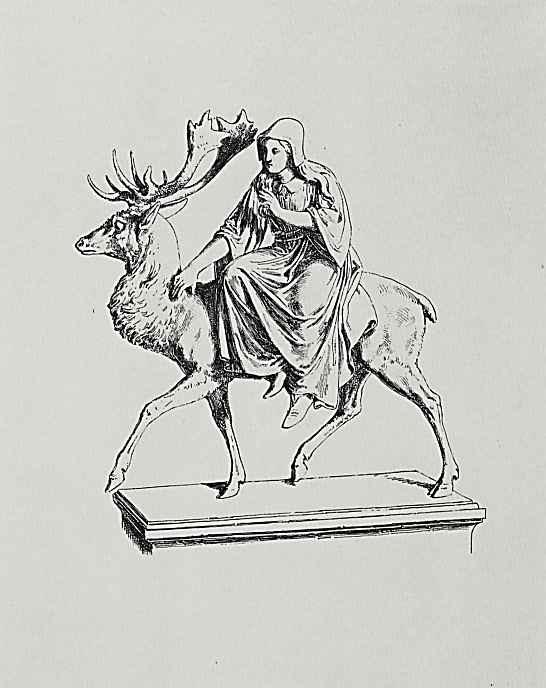 Адольф фон Менцель. Девушка на олене