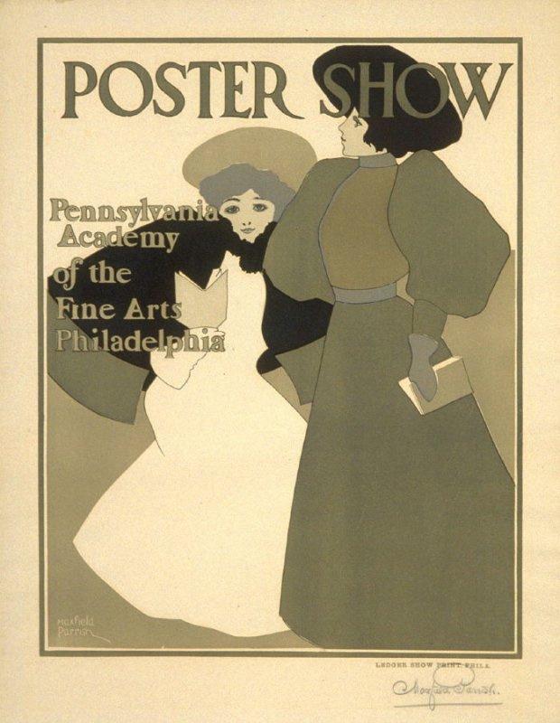 Максфилд Пэрриш. Постер-шоу. Пенсильванская академия изобразительных искусств, Филадельфия