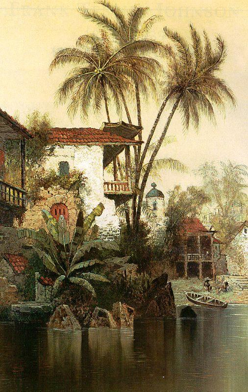 Edwin Deakin. Palm trees