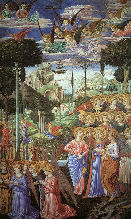 Беноццо Гоццоли. Поклонение ангелов