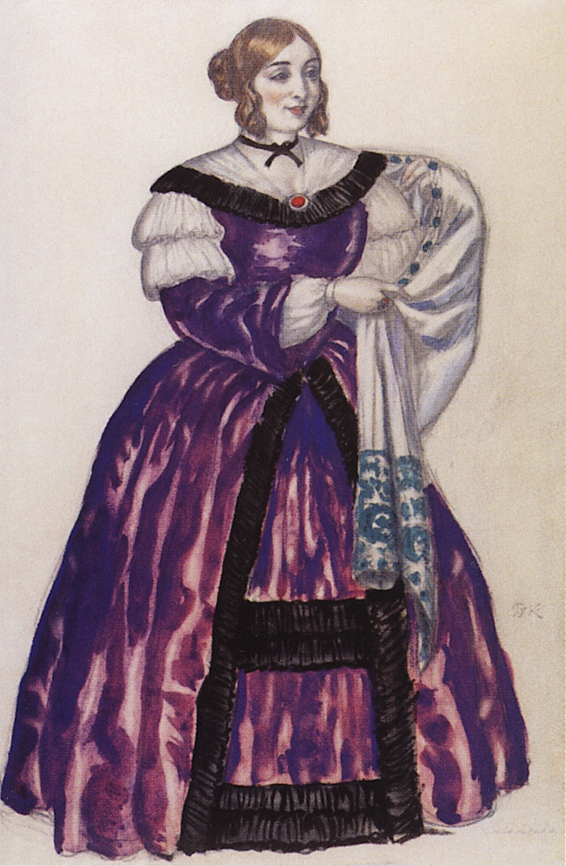 "Boris Kustodiev. Zhivojedov. Costume design for the play ""Death of Pazukhin"" by M. E. Saltykov-Shchedrin"