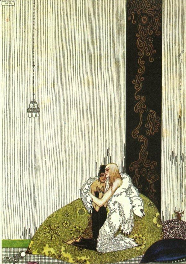 Кей Нильсен. Иллюстрация к  сказке  На восток от солнца, на запад от луны 13