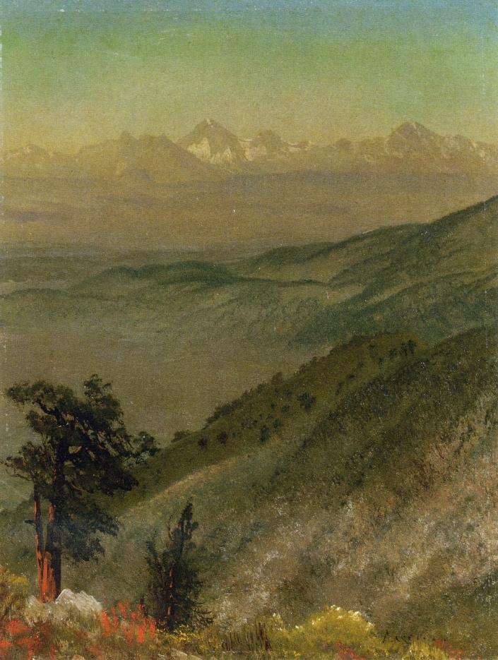 Альберт Бирштадт. Уошатские горы, Юта