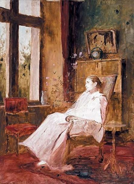 Михай Либ Мункачи. Женщина в кресле у окна