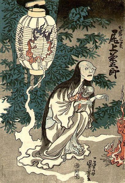 """Утагава Куниёси. Оива. Фрагмент сцены из спектакля """"Призрак Оивы"""""""