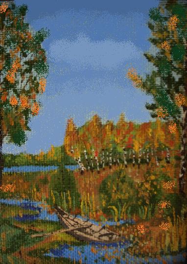 Vladimir Adamovich Ropot. A boat