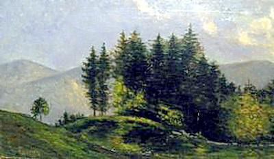 Давид Давидович Бурлюк. Горный пейзаж