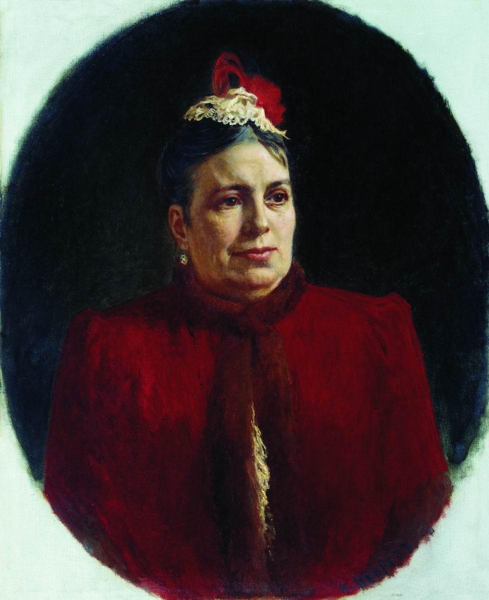 Nikolai Vasilyevich Nevrev. Portrait of G. N. Fedotova, actress of the Maly Theater. 1892