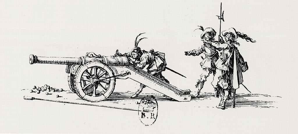 Жак Калло. Заряжание пушки