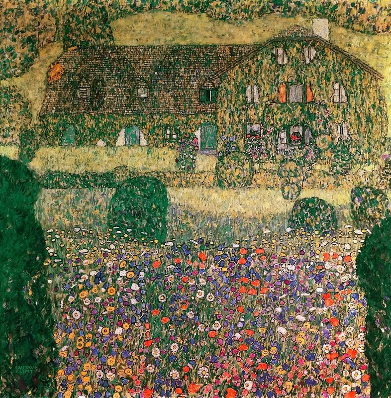 Gustav Klimt. A Forester's house in Weissenbach I
