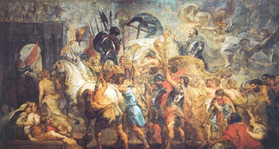 Питер Пауль Рубенс. Триумфальный въезд Генриха IV в Париж