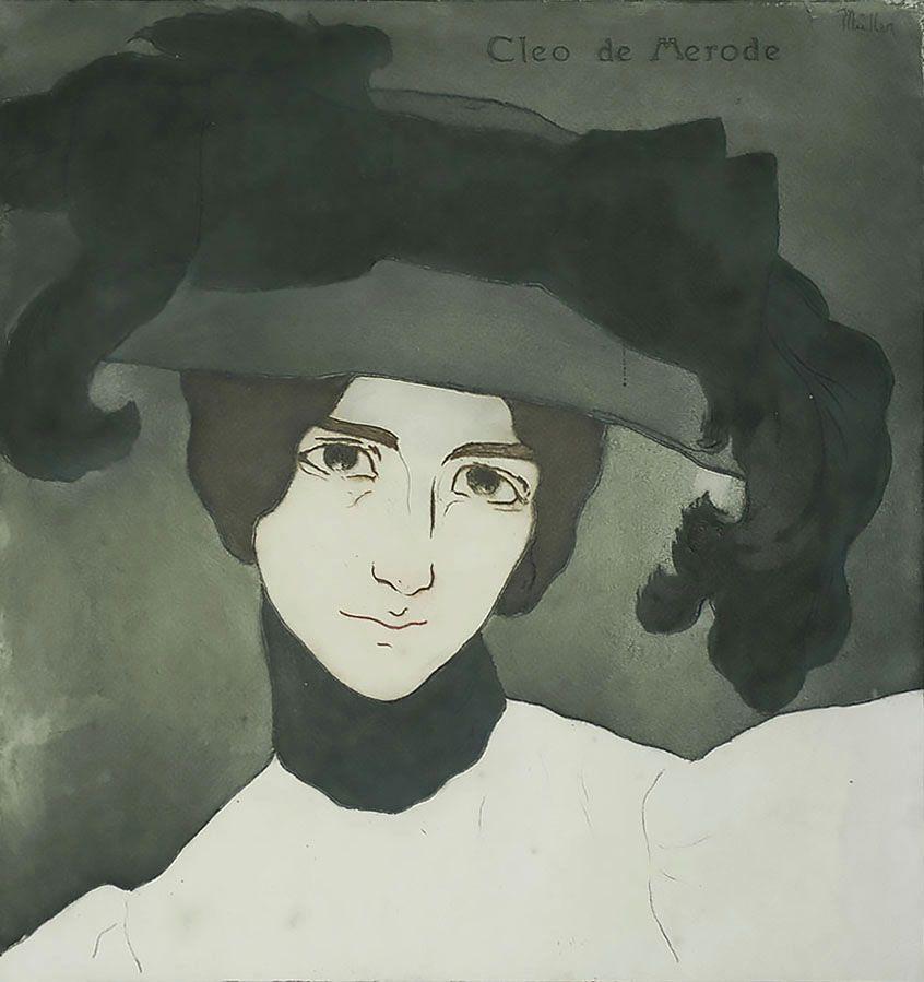 Alfredo Müller. Portrait of Cleo de Merod