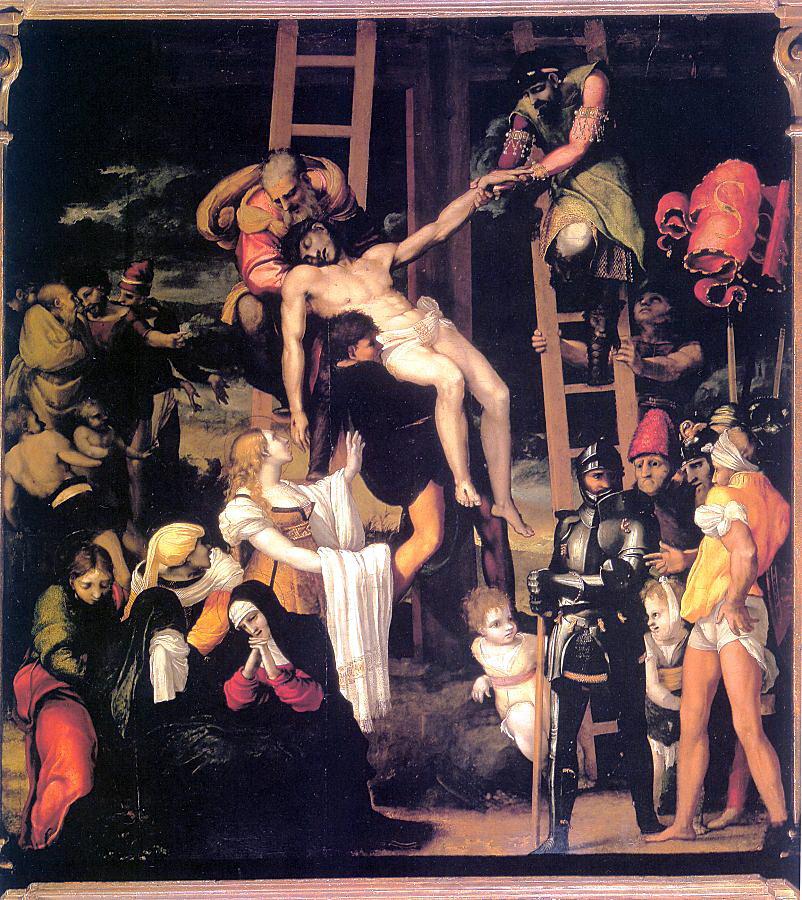 Педро Мачука. Снятие с креста