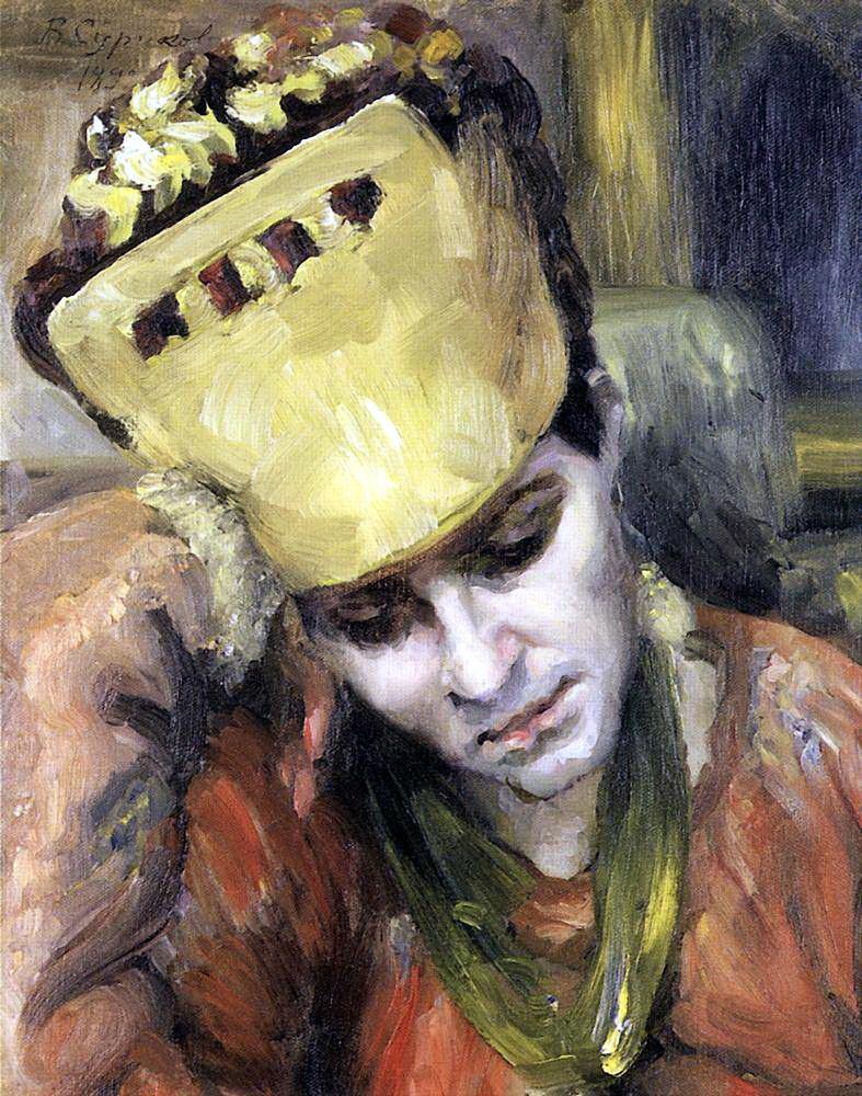 Василий Иванович Суриков. Портрет молодой женщины в кокошнике