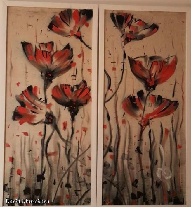 David Khurcilava. Beautiful Poppies