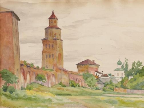 Osip Emmanuilovich (Joseph) Braz. The towers of the Kremlin. 1926