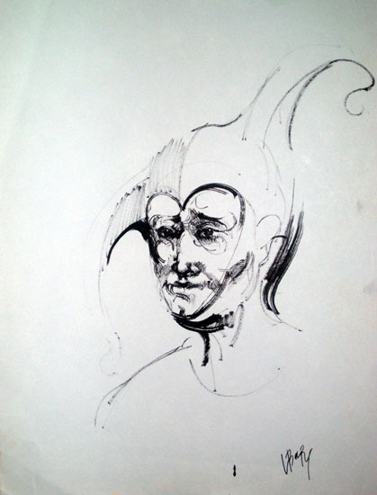 Larisa Baranova. Old clown ----