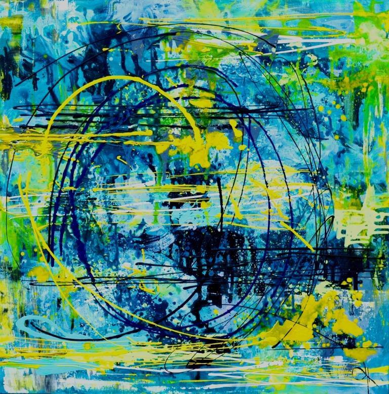 """Tanya Vasilenko. """"The sound """"MI"""", acrylic on canvas. E. Sound Acrylic on canvas."""