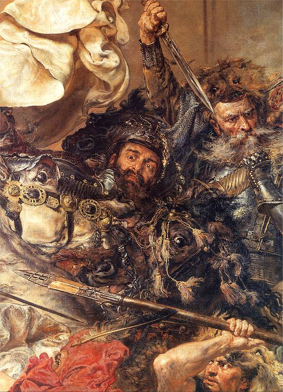 Jan Matejko. Battle of Grunwald. Fragment. Zindram from Mazkovica