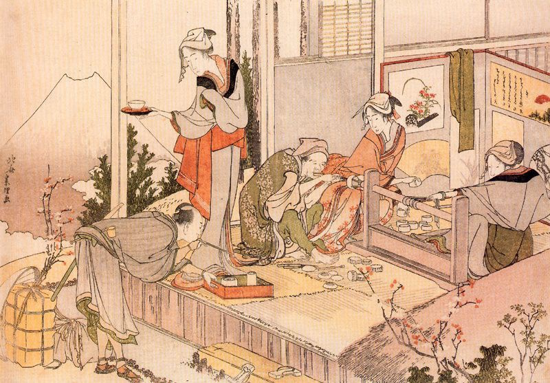 Кацусика Хокусай. Рядом с горой Фудзи