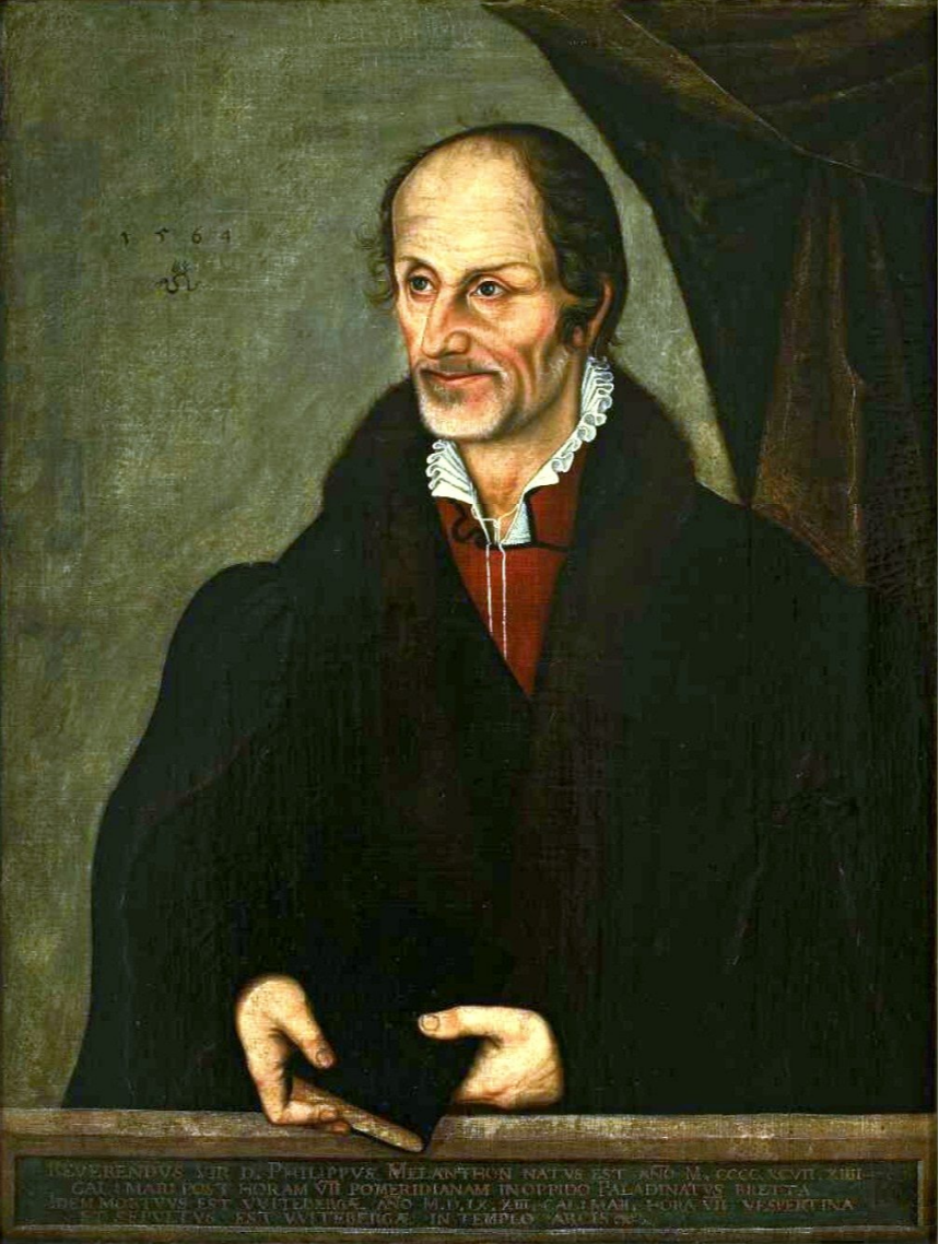 Lucas the Younger Cranach. Portrait of Philip Melanchthon. National Museum, Warsaw.