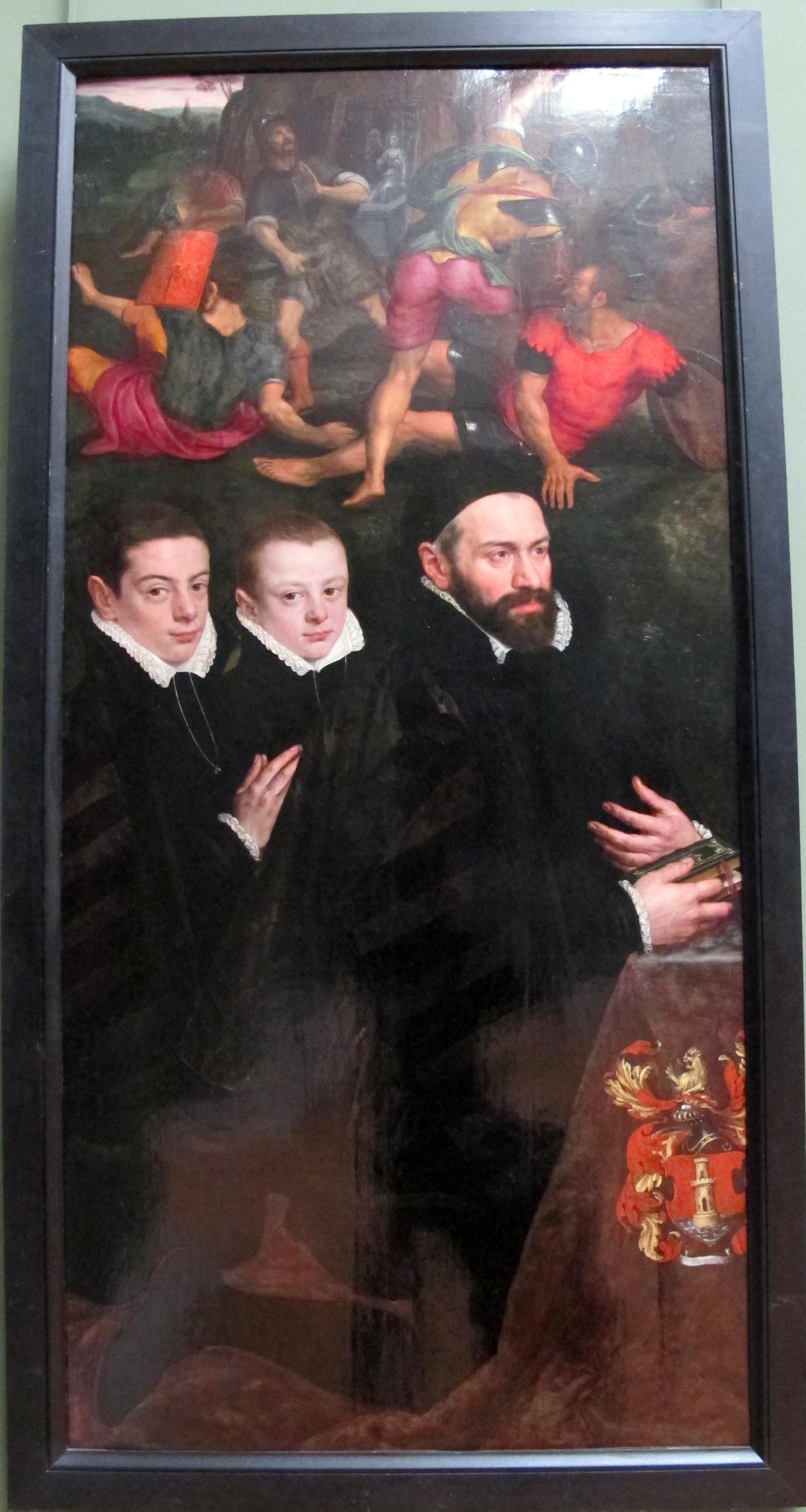 Antonio del Rio and his two sons
