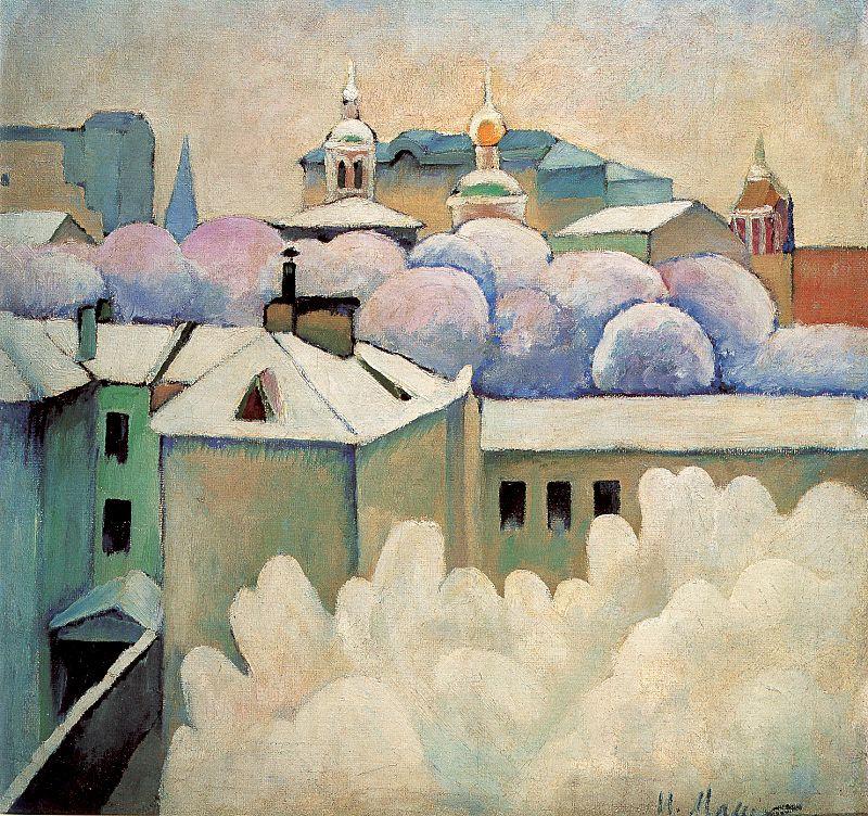 Ilya Ivanovich Mashkov. The roofs of the houses
