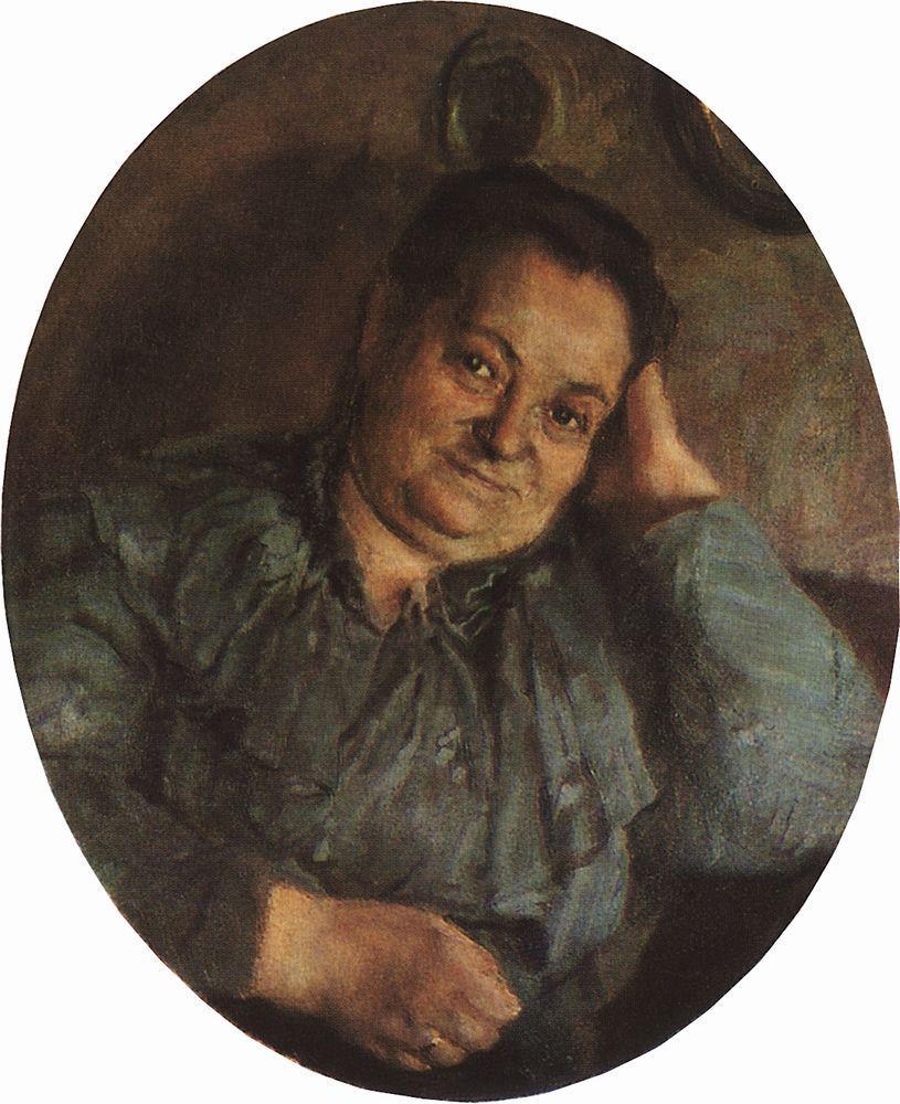 Константин Андреевич Сомов. Портрет матери художника