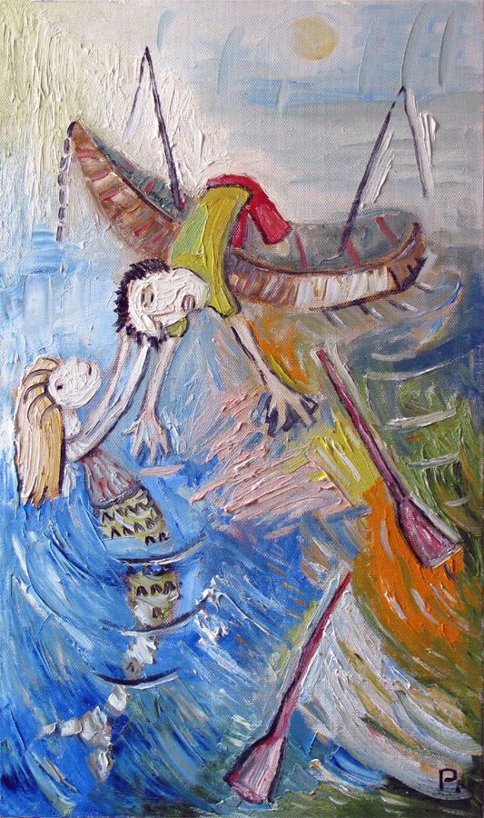 Svyatoslav Ryabkin. Mermaid and fisher Mermaid and Fisherman