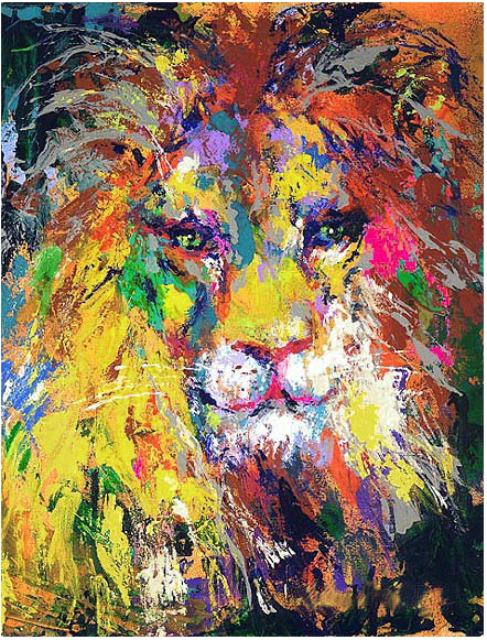 Leroy Neiman. Portrait of a lion