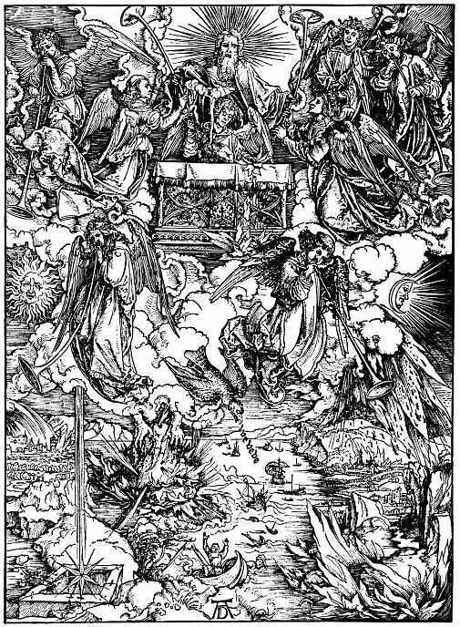 Альбрехт Дюрер. Семь трубящих ангелов