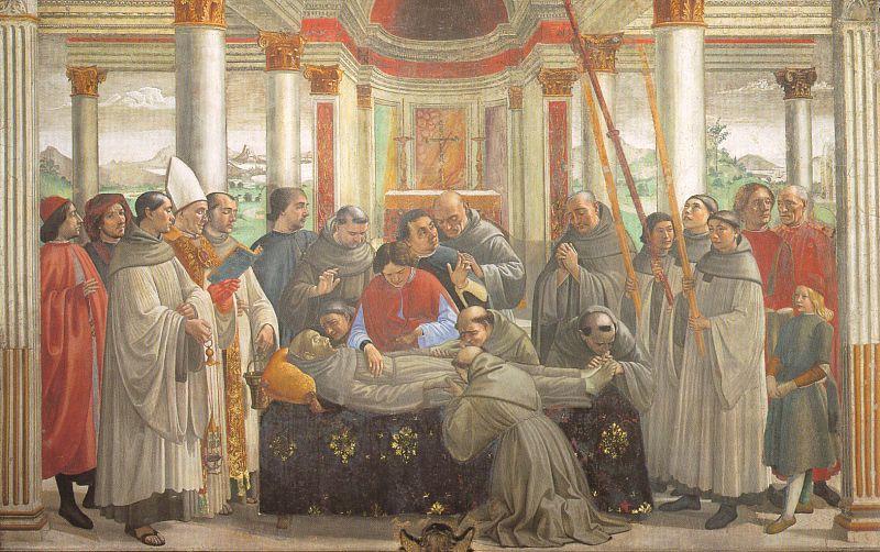 Domenico Girlandajo. The funeral of St. Francis