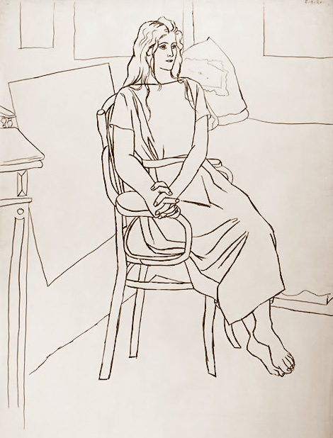 Pablo Picasso. Olga with her hair