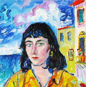 Давид Давидович Бурлюк. Портрет женщины
