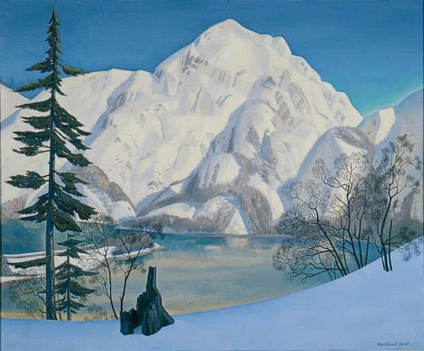 Рокуэлл Кент. Аляска. Вид с Лисьего острова зимой