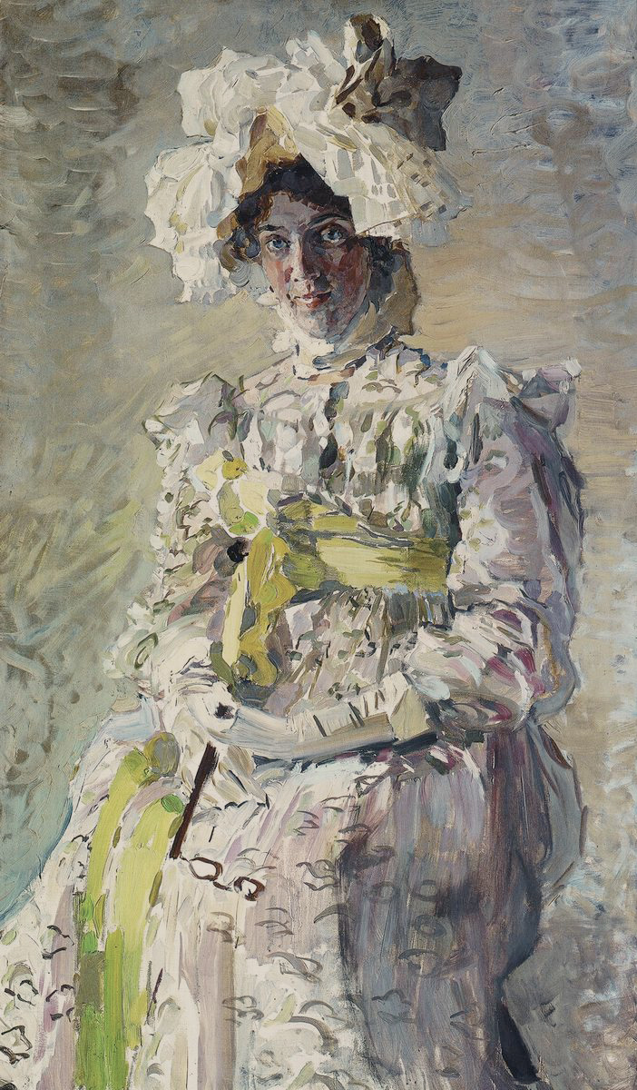 "Mikhail Vrubel. Portrait of the artist N. And. Zabela-Vrubel, the artist's wife, in the summer toilet ""Empire"", performed by the artist"
