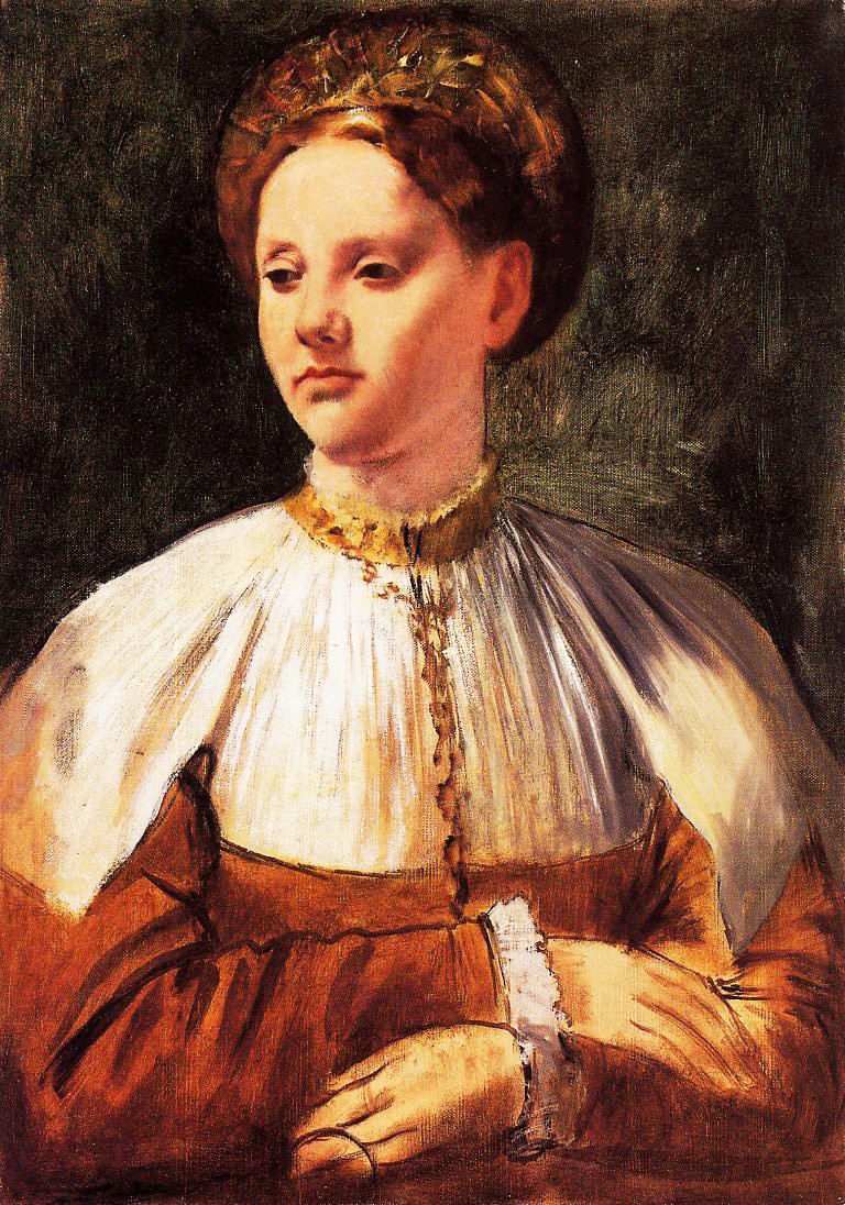 Edgar Degas. Portrait of a young woman (for Backache)
