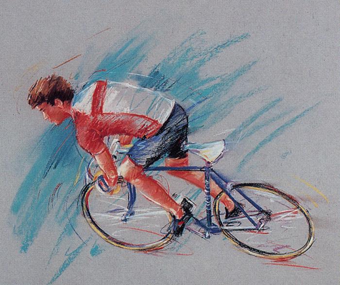 Лесли Сабо. Велосипедист