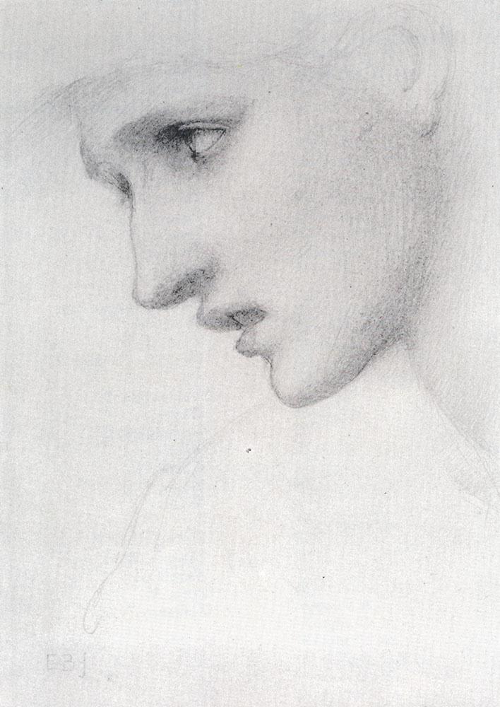 Edward Coley Burne-Jones. Female profile