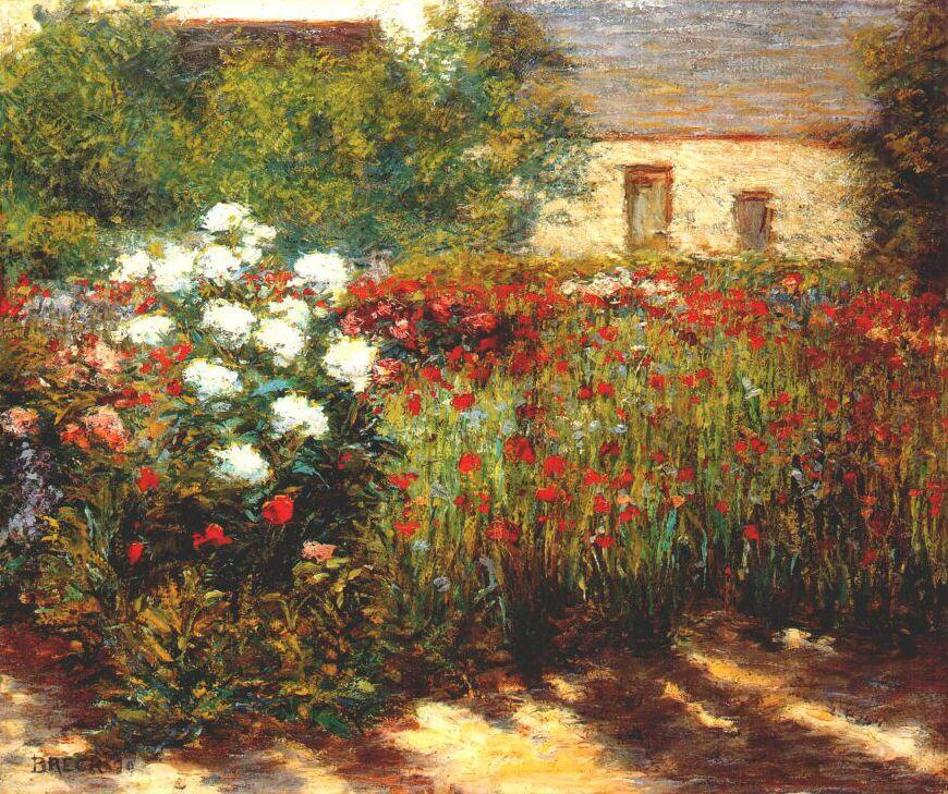 John Leslie Breck. Garden at Giverny
